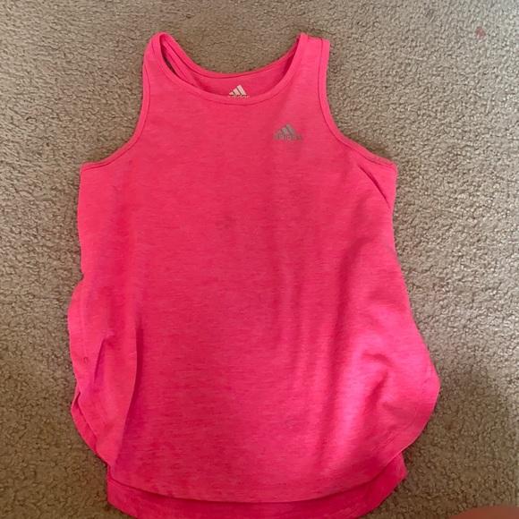 pink adidas tank